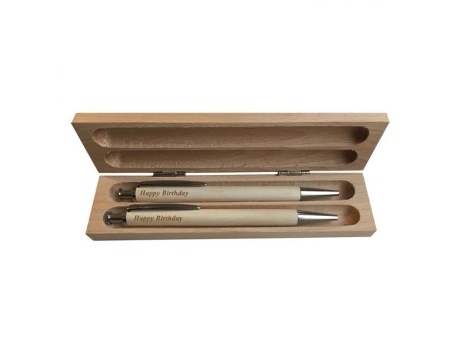 Personalized Wooden Ballpoint Pen Case